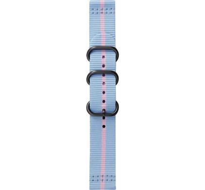 Samsung Gear Sport Premium Nylon Horlogeband Blauw/Roze