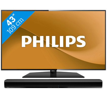 Philips 43PFS5301 + Philips HTL1190B