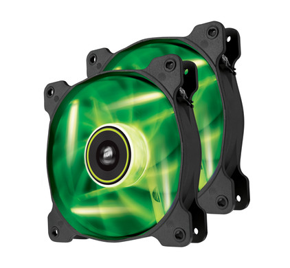 Corsair SP120 High Static Pressure Edition Green LED 2 Pack