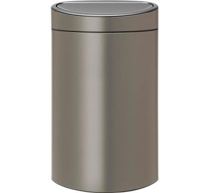 Brabantia Touch Bin Afvalverzamelaar 30 Liter.Brabantia Touch Bin 40 Liter Platinum