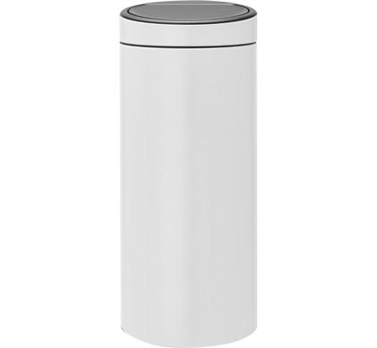 Brabantia Touch Bin Afvalverzamelaar 30 Liter.Brabantia Touch Bin 30 Liter White