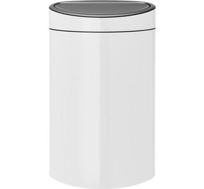Brabantia Vuilnisbak 40 Liter.Brabantia Touch Bin 40 Liters White
