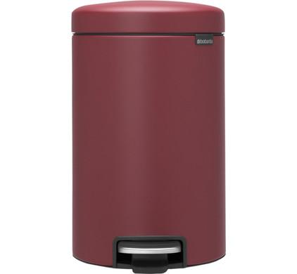 Brabantia NewIcon Pedaalemmer 12 Liter Mineral Windsor Red