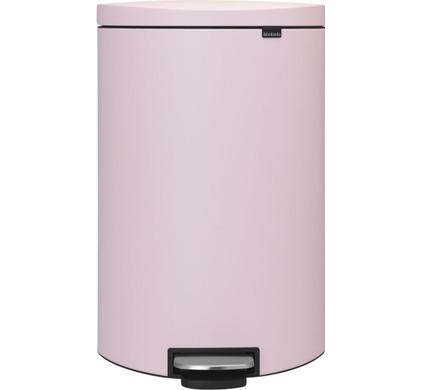 Brabantia Pedaalemmer FlatBack Silent 40 Liter Mineral Pink