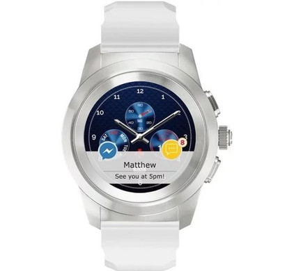 MyKronoz ZeTime 44mm Smartwatch Original White Main Image