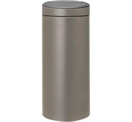 Brabantia Touch Bin 30 Liter Wit.Brabantia Touch Bin 30 Liter Platinum