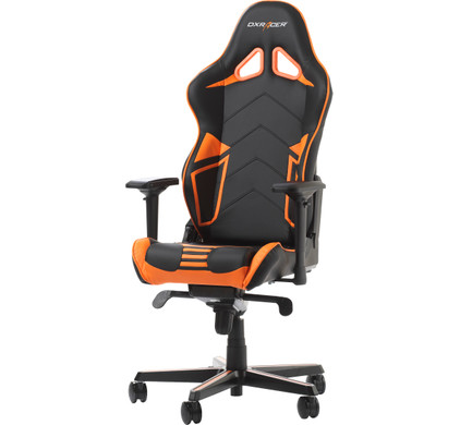 DX Racer RACING PRO Gaming Chair Zwart/Oranje