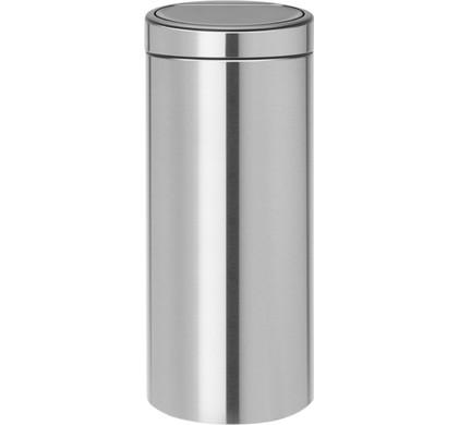 Brabantia Touch Bin Prullenbak 30 L Mat Rvs.Brabantia Touch Bin 30 Liter Matt Steel