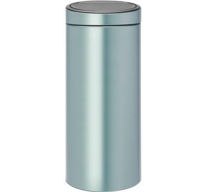 Brabantia Touch Bin Afvalverzamelaar 30 Liter.Brabantia Touch Bin 30 Liter Metallic Mint
