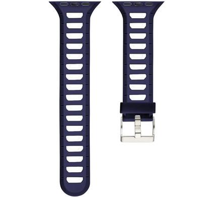 Just in Case Siliconen Horlogeband Apple Watch 42mm Blauw/Wit