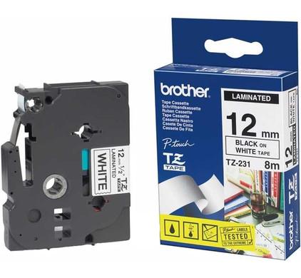 Brother TZ-231 Label Zwart op Wit (12 mm x 8 m)