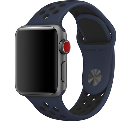 Apple Watch 38mm Polsband Nike Sport Obsidiaan/Zwart
