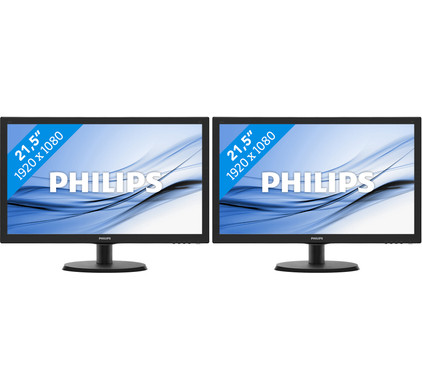 Philips 223V5LHSB2/00 Duo set-up
