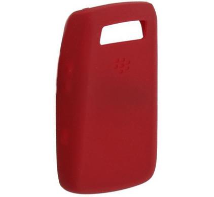 BlackBerry 9700 Silicon Skin Red + Screenprotector