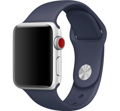 Apple Watch 38mm Polsband Sport Middernachtblauw
