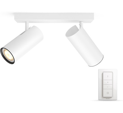 Philips Hue Buratto 2-Spot Wit met Dimmer