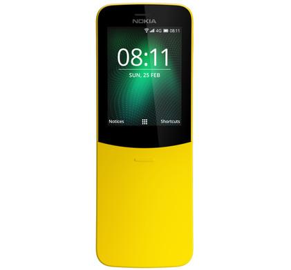 Nokia 8110 4G Geel - Coolblue - Voor 23.59u, morgen in huis