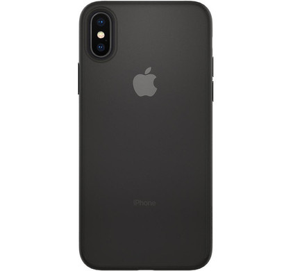 buy online 0bf62 725ea Spigen Air Skin Apple iPhone X Back Cover Black