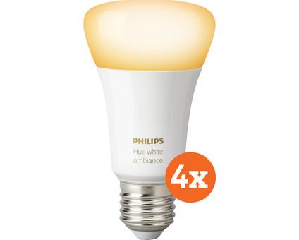 Philips Hue White Ambiance E27 Bluetooth 4-pack