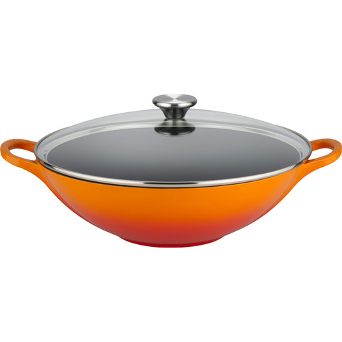 Le Creuset Gietijzeren Wok 32 cm Oranje-rood