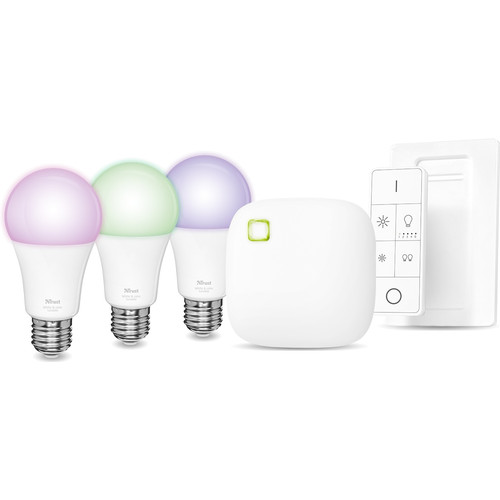 Trust Smart Home E27 White and Color Starter Pack met Dimmer