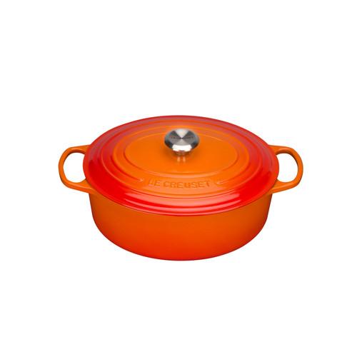 Le Creuset Ovale Braadpan 31 cm Oranje-rood