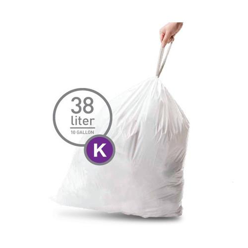 Simplehuman Afvalzak Code K Pocket Liner 38 Liter (60 stuks)