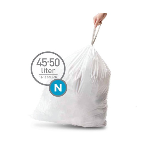 Simplehuman Afvalzak Code N Pocket Liner 45 Liter (60 stuks)