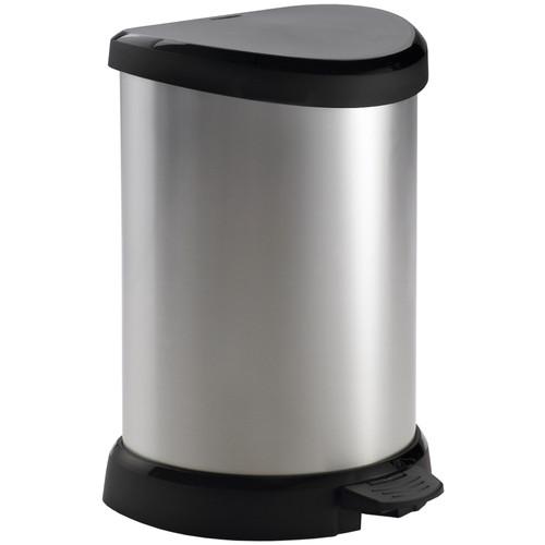 Curver Decobin 20 Liter Zilver