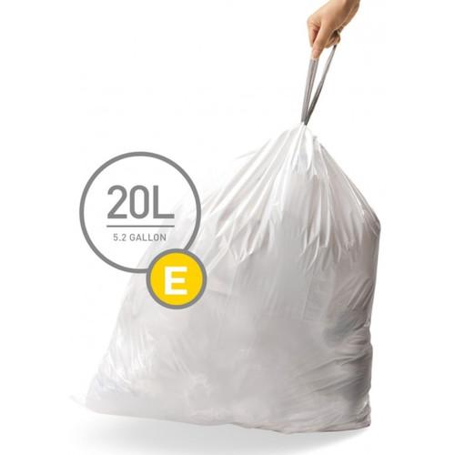 Simplehuman Afvalzak Code E Pocket Liner 20 Liter (60 stuks)