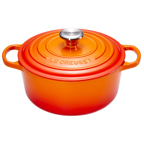 Le Creuset Ronde Stoof-/Braadpan 24 cm Oranje-rood
