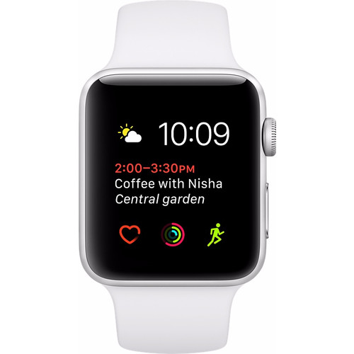 Apple Watch Series 2 42mm Zilver Aluminium/Witte Sportband