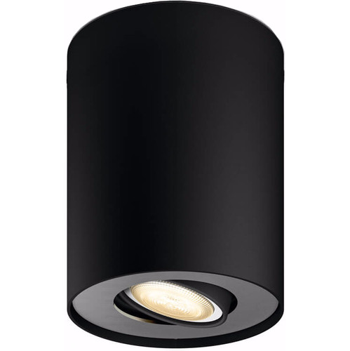 Philips Hue Pillar Single Spot Zwart met Dimmer