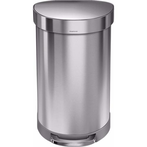 Simplehuman Semi Round 45 liter Zilver