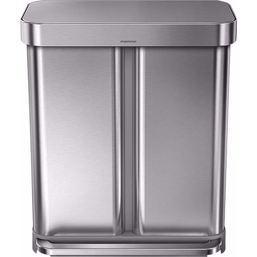 Simplehuman Rectangular Liner Pocket 24 + 34 Liter RVS