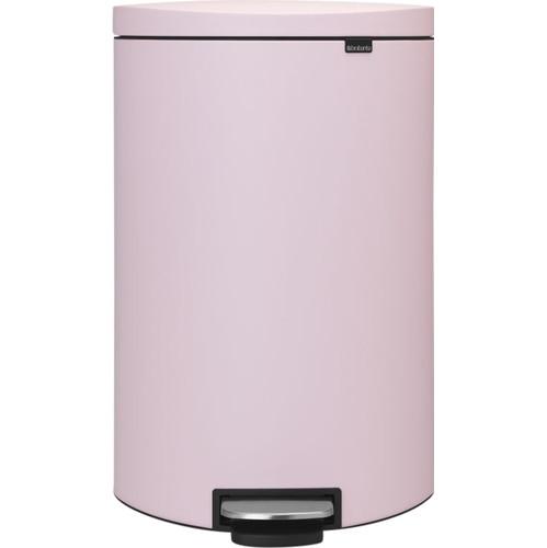 Brabantia Pedaalemmer FlatBack 40 Liter Mineral Pink