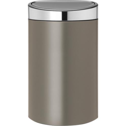 Brabantia Touch Bin 40 Liter Platinum / Matt Steel deksel