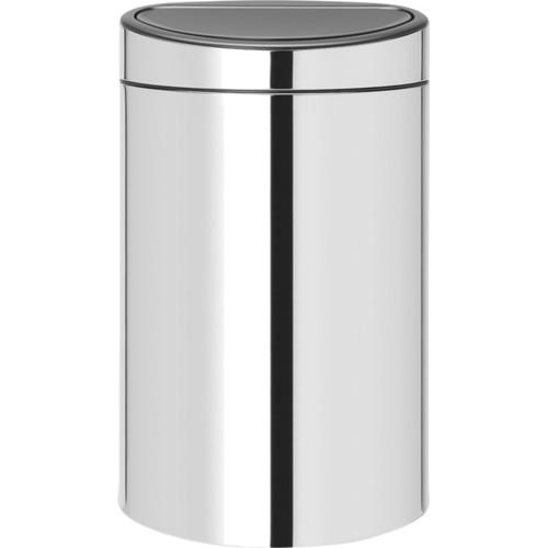 Brabantia Touch Bin Recycle 10 + 23 liter Brilliant Steel