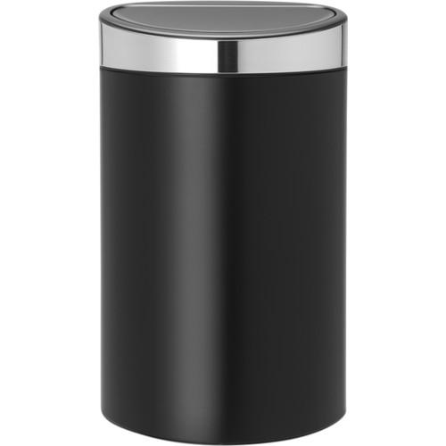 Brabantia Touch Bin 40 Liter Matt black / Matt Steel