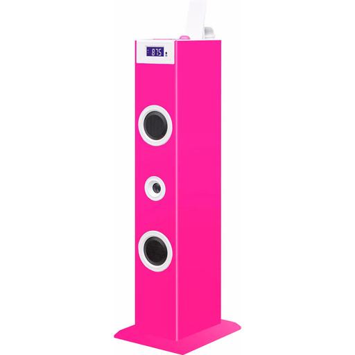 Bigben Karaoke Sound Tower met Stickers Roze