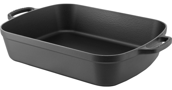 Le Creuset Cast Iron Roasting Pan 33 Cm Matt Black Coolblue Before 23 59 Delivered Tomorrow