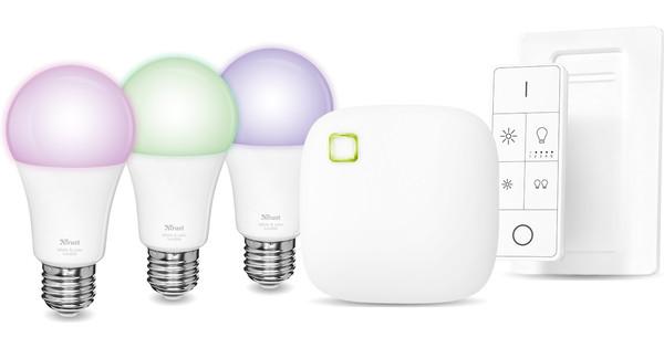 Trust Smart Home White and Color E27 Starterkit met Dimmer