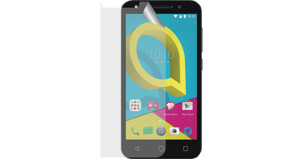Azuri Alcatel U5 Screenprotector Plastic Duo Pack