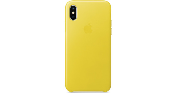 Apple iPhone X Leather Back Cover Lentegeel