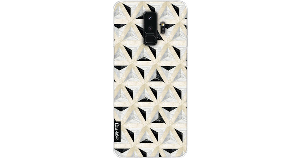 Casetastic Softcover Samsung Galaxy S9 Plus Marble Triangle Blocks