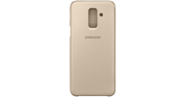 Samsung Galaxy A6 Plus (2018) Wallet Cover Book Case Goud