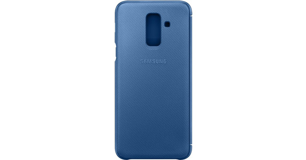 Samsung Galaxy A6 Plus (2018) Wallet Cover Book Case Blauw