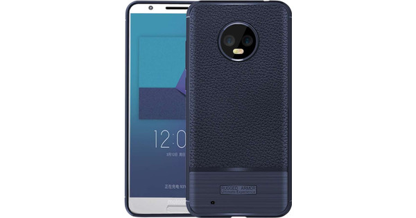 Just in Case Rugged Armor Motorola Moto G6 Back Cover Blauw