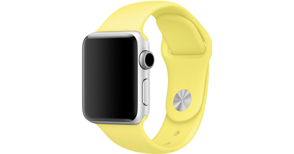 Apple Watch 42mm Siliconen Horlogeband Sport Citroengeel