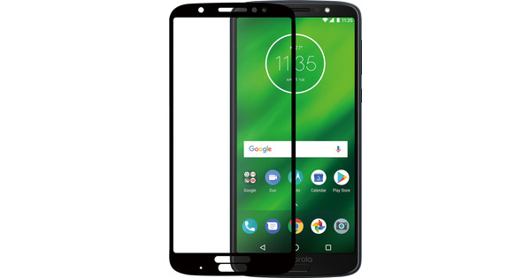 Azuri Tempered Glass Motorola Moto G6 Plus Screen Protector Glass Black